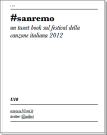 sanremo tweet book cover