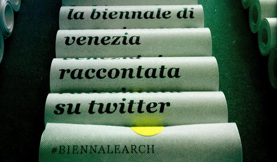 La Biennale raccontata su Twitter